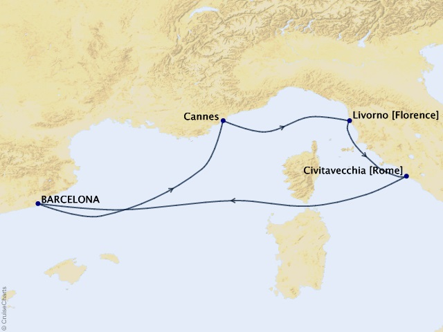 5-night Mediterranean from Barcelona Cruise