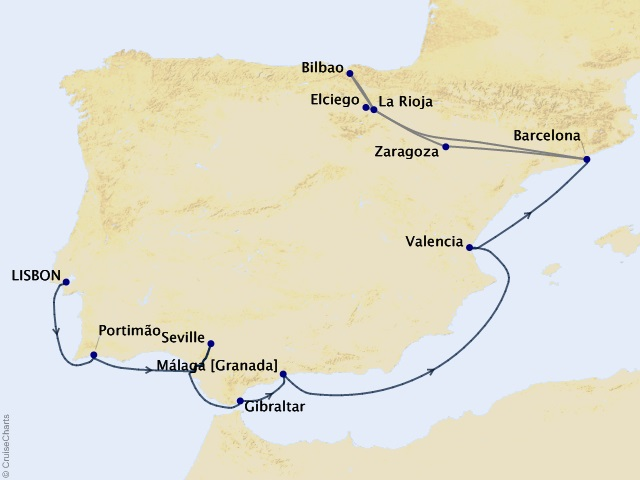 12-night Iberia Intensive Voyage / Basque Country and Rioja Wines Cruise/Land Package