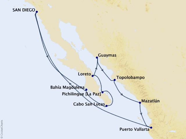 12-night Mexico & the Sea of Cortez Cruise