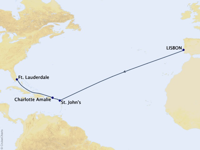12-night Crossing to the Caribbean Cruise
