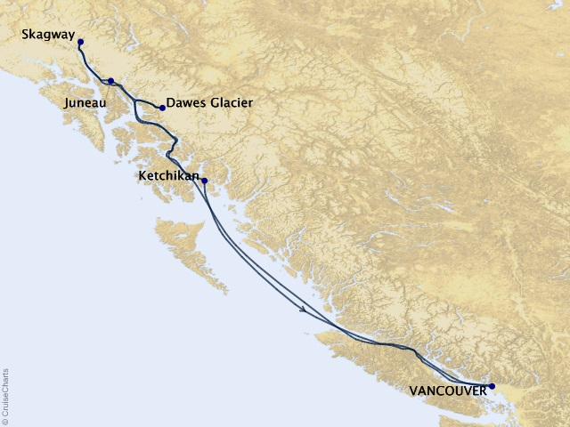 7-night Alaska from Vancouver Cruise