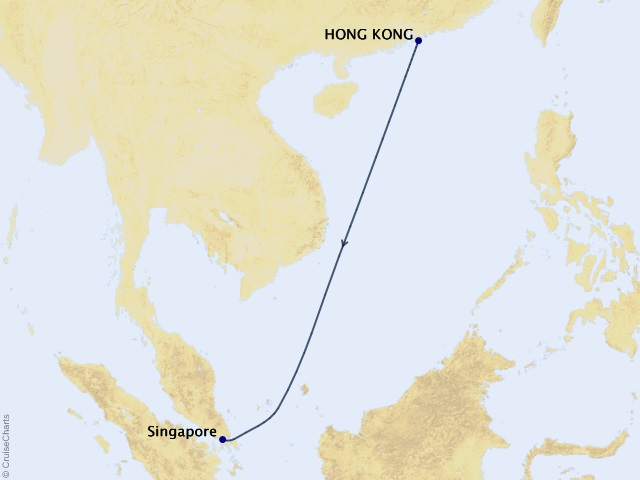5-night 2021 World Voyage Segment - Hong Kong to Singapore Cruise