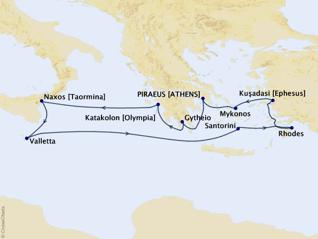 10-night Glories of Greece Cruise