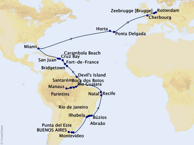 51-night Amazon and Atlantic Exploration Cruise