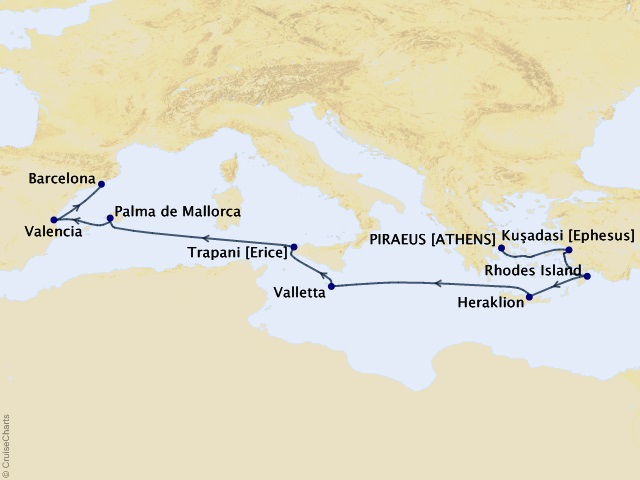 10-night Mediterranean Luxury Cruise