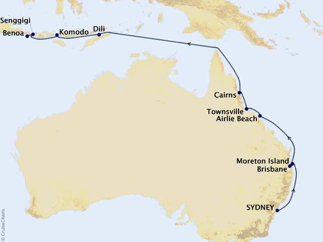 17-night Queensland Coast and Orchid Isles Cruise
