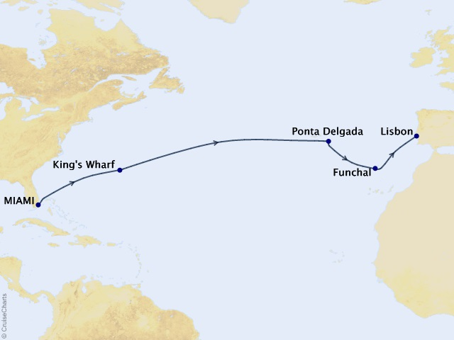 12-night Easter in Portugal Cruise Map