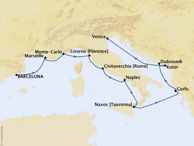 12-night Mediterranean Tapestry Cruise