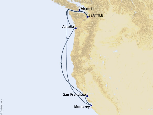 7-night Northern California Coast Cruise