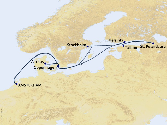 12-night Scandinavia & St. Petersburg Cruise