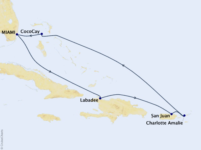 7-night Eastern Caribbean & Perfect Day Cruise